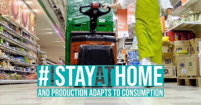 #I stay at home. And production adapts to consumption