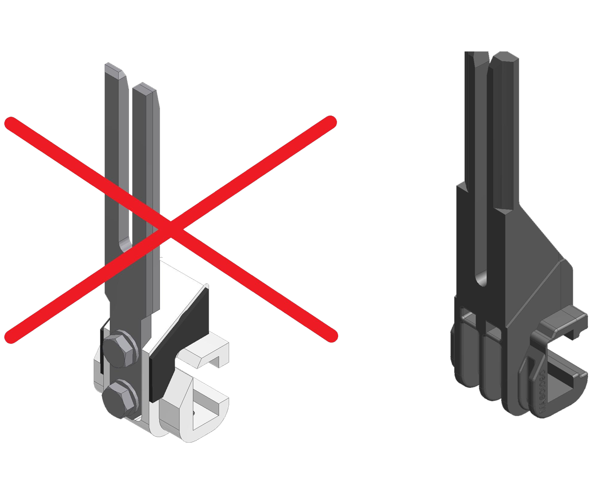 ZF010025 - Sustitución de los dedos de acero por la nueva generación de dedos de plástico.
