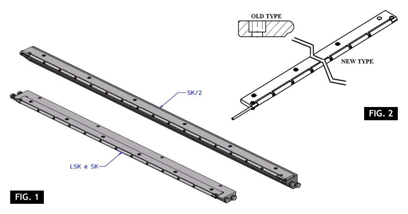 ZF010120 - Remplazo de la placa de cinta por una placa de rodillos de larga duración