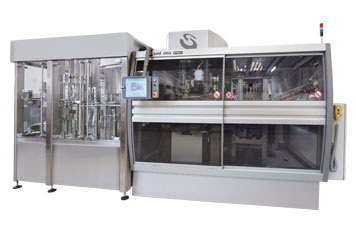Sistemas integrados de estirado-soplado, llenado y taponado para liquidos sin gas